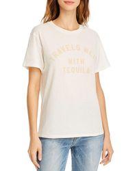 Wildfox Keke Travels Well Graphic T - Shirt - White