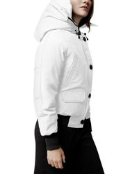 Canada Goose Chilliwack Hooded Down Bomber Jacket - White