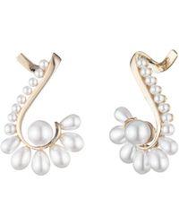 Carolee - Simulated Pearl Fan Ear Cuffs - Lyst