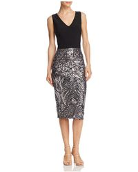 Aqua - Sequin-embellished Sheath Dress - Lyst