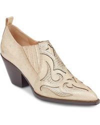 Marc Fisher - Women's Charly Cutout Metallic Leather Mid Heel Bootie - Lyst