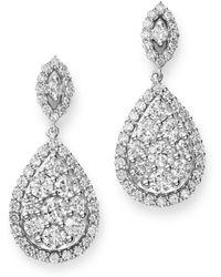 Bloomingdale's Diamond Teardrop Earrings In 14k White Gold