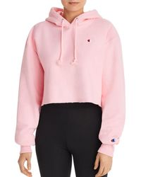 Champion - Reverse Weave Cropped Hooded Sweatshirt - Lyst