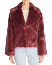 Unreal Fur Madam Butterfly Short Faux Fur Coat - Red
