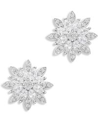 Bloomingdale's - Diamond Starburst Stud Earrings In 14k White Gold - Lyst