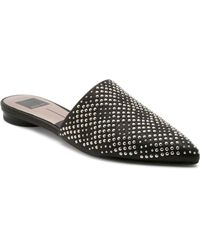 Dolce Vita - Women's Elvah Studded Leather Pointed Toe Mules - Lyst
