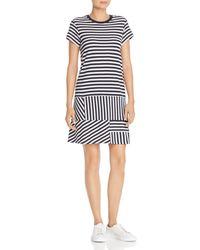 ATM - Striped Piqué Dress - Lyst