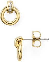 Nadri - Door Knocker Stud Earrings - Lyst
