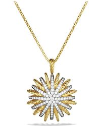 David Yurman - Starburst Large Pendant With Diamonds On Chain - Lyst