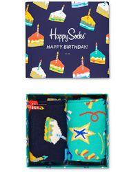 Happy Socks Happy Birthday Gift Box - Pack Of 2 - Blue