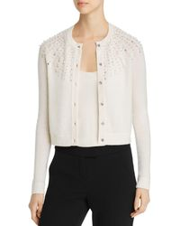 C By Bloomingdale's Embellished Cashmere Cardigan - White