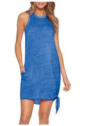 Becca Becca? By Rebecca Virtue Beach Date Knot Hem Cover - Up Dress - Blue