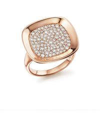 Roberto Coin - 18k Rose Gold Carnaby Street Diamond Ring - Lyst