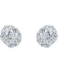 Swarovski So Cool Crystal Stud Earrings - Metallic