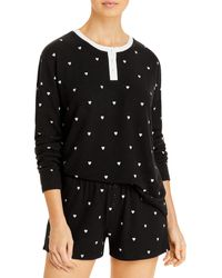 Aqua Heart Print Pyjama - Black