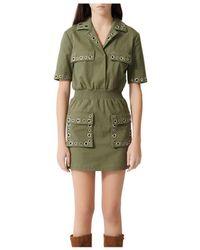 Maje Ramil Military - Style Dress - Green