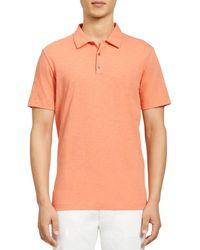 Theory Bron Regular Fit Polo Shirt - Orange