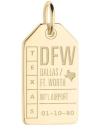 Jet Set Candy Dfw Dallas Ft. Worth Luggage Tag Charm - Metallic