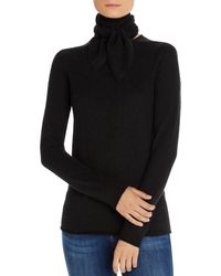 C By Bloomingdale's - Tie - Neck Cashmere Sweater - Lyst