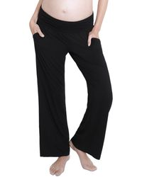 Ingrid & Isabel Maternity Fold Over Lounge Trousers - Black