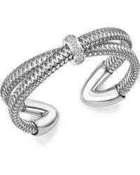 Roberto Coin 18k White Gold Primavera Diamond Cuff Bracelet