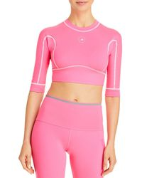 adidas By Stella McCartney Cotton Open Back Crop Top - Pink