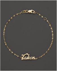 Lana Jewelry - 14k Yellow Gold Taken Bracelet - Lyst