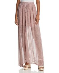 French Connection - Elao Sheer Maxi Skirt - Lyst