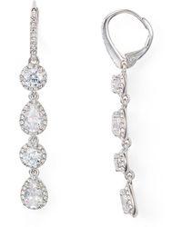 Nadri Leverback Earrings - Metallic