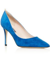 SJP by Sarah Jessica Parker Women's Fawn Pointed - Toe Court Shoes - Blue