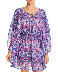Tommy Bahama - Ikat Mirage Lace - Front Tunic Swim Cover - Up - Lyst