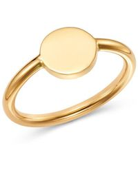 Moon & Meadow - Round Signet Ring In 14k Yellow Gold - Lyst