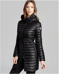 Moncler Barbel Lightweight Down Coat in Black   Lyst
