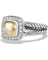 David Yurman | Petite Albion Ring With 18k Gold Dome And Diamonds | Lyst