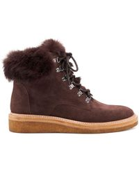 Botkier Winter Lace Up Boots - Brown