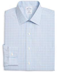 Brooks Brothers - Overcheck Classic Fit Dress Shirt - Lyst