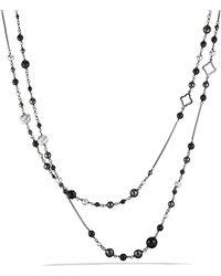 David Yurman - Dy Elements Chain Necklace With Black Onyx & Hematine - Lyst