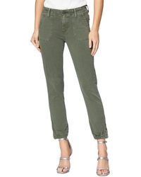 PAIGE Mayslie Cropped Jogger Trousers - Green