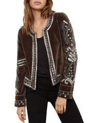 Velvet By Graham & Spencer - Peggie Embellished Jacket - Lyst
