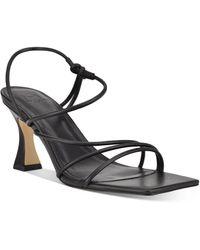 Marc Fisher Dami Strappy Slingback Sandals - Black