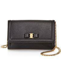 Ferragamo - Miss Vara Leather Mini Bag - Lyst