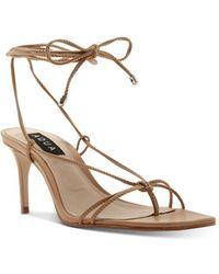 Aqua Women's Dirlene High - Heel Strappy Sandals - Natural
