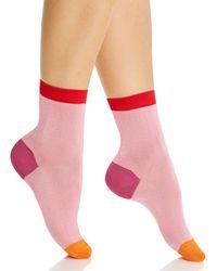 Happy Socks Grace Ankle Socks - Pink
