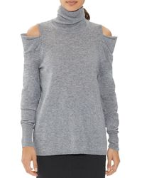 Halston Draped Cold - Shoulder Jumper - Gray