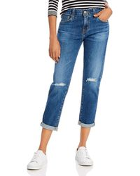 AG Jeans Ex Bf High - Rise Cropped Slouchy - Slim Jeans In 11 Years Interrupted - Blue