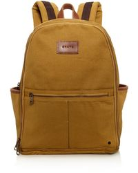 State Bedford Cotton Twill Backpack - Brown