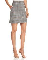 Theory - Plaid Mini Skirt - Lyst