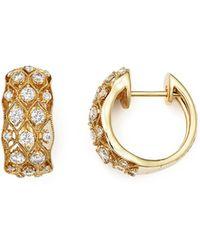 Bloomingdale's Diamond Huggie Hoop Earrings In 14k Yellow Gold - Metallic
