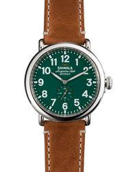 Shinola The Runwell Brown & Green Dial Watch