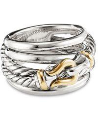 David Yurman Buckle Ring With 18k Yellow Gold - Metallic